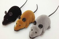 Wholesale Pet Rats - Novelty Funny RC Wireless 3 Colors Remote Control Rat Mouse Toy For Cat Dog Pet