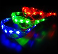 Wholesale Glass Kids Party - Hot Spiderman LED Light Flashing Glasses Gift Cheer Dance Mask Christmas Halloween Days Gift Novelty LED Glasses Led Rave Toy Party Glasses