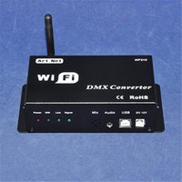 Wholesale Led Convertor - 2016 NEW DC12V wifi 310 DMX512 convertor for led strip by Android or IOS system phone,multi point led wifi controller with USB+art-net