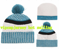 Wholesale Cycling Caps Cheap - 2018 winter beanies caps Cotton All Team Football Pom Pom Beanies Men Women Winter Hats With Pom Cheap Sports Skull Caps Hot Sale