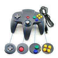 Wholesale N64 Joypad - USB Game Controller Joypad Joystick Gaming For Nintendo N64 PC Mac