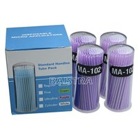 Wholesale Disposable Dental Material - Dental Material Disposable Micro Applicators Brush Ultrafine Purple 4Bottle pack