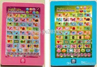 Wholesale English Child Ipad - English IPad Touch Tablet Computer Toys,Children Study Machines,Kids Learning Toy Word Letter Shape Number Free Shipping B-101