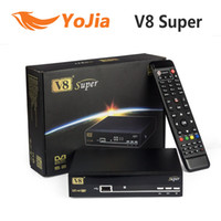 Wholesale Satellite Receiver Boxes - 5pcs [Genuine] Openbox V8 Super DVB-S2 Satellite TV Receiver Support PowerVu Biss Key Cccamd Newcamd Youtube USB Wifi Set Top Box
