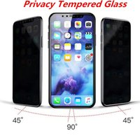 Privacy Vetro temperato per Galaxy J7 PRO J5 PRO Privacy Screen Protector Shield Anti-Spy per iphone X 8 plus Con Retail Packag C