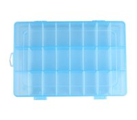 Wholesale Wall Compartments - Wholesale- Brand new high quality Box Size19cm x 12.5cm x 3.5cm Adjustable 24 Compartment Plastic Storage Box Jewelry Earring Cas