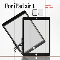 Wholesale Resistance Glass - Free shipping by dhl For Apple iPad Air ipad 5 High Quality Front Glass with Touch Screen Digitizer Assembly black&white color Free Shipping
