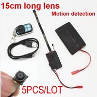 Wholesale Big Battery Spy - FREE SHIPPING 5PCS LOT HD 1080P Big battery DIY Camera DVR Motion detection remote control spy hidden recorder DIY Module Camera