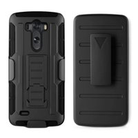 Wholesale M9 Belt - For LG G3 Hybrid Tough Future Armor Impact Hard Defender Case Cover + Belt Clip Holder Kickstand For LG G4 K8 HTC M9 Samsung Galaxy Note 8