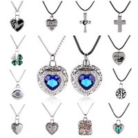 Wholesale Best Memorials - Wholesale- 1 Pcs Urn Cremation Ash Statement Necklaces Silver Chain Crystal Pendants Mini Keepsake Memorial Jewelry Collares Best Gifts