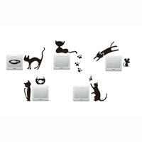 Wholesale decor vinilos resale online - Cat Paw Prints Mouse Switch Sticker DIY Socket Wall Stickers Home Decor Bedroom Vinilos Decorativos Wall Decal