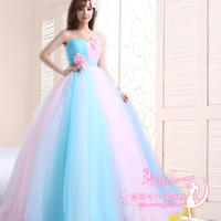 Wholesale Fairy Tale Pictures - Princess Quinceanera Dresses 2016 New Fairy Tale Sweetheart Pink Lace Flower A-line Long Formal Prom Dress Plus Size Performance Dresses
