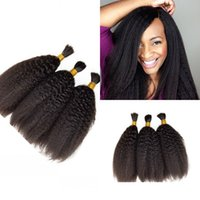 3 комплекта Человеческие волосы Bulks No Weft Cheap Peuvian Kinky Straight Bulks Hair For Braiding FDshine HAIR