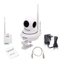 Wholesale Camera Security Alarm Systems - NEWEST Original ESCAM QF500 P2P 720P HD 1.0Mega Pan Tilt WIFI Alarm System Mini Security CCTV Indoor IP Camera