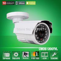 Wholesale Outdoor Cctv Cameras - ANRAN 1200TVL CMOS Sensor 24 IR Leds Waterproof Outdoor Surveillance Bullet Security CCTV Camera IR-Cut