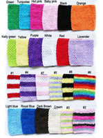 Wholesale Tutu Dress Tops For Babies - 6x6 inches Crochet Tutu Tube Tops pettiskirt tutu tops for baby girls tutu dress