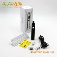 Wholesale Electronic Cigarette Joyetech Starter Kits - Original Joyetech eGo Aio Electronic Cigarettes Starter Kit With BF ss316 1500mAh ego aio Battery