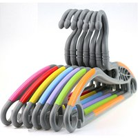 Wholesale Plastic Clothes Hangers Free Shipping - [Free shipping] Innovative Design. Super Magic Non Slip Plastic Hanger for clothes,Swan plastic hanger