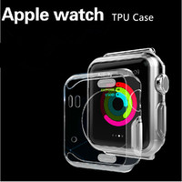 Wholesale Purple Watch Crystal - Apple Watch 3 Case Ultra Thin Slim Crystal Clear Transparent Soft TPU Cover Skin For Apple Watch 1 2 3 38mm 42mm iwatch