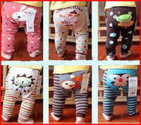 Wholesale Busha Baby Cartoon Animals - 6Pc lot Busha Baby PP Pants Baby Warmer Leggings Infant Cartoon Tights Toddler Pants (Any Size & Color Can Be Choose Freely)