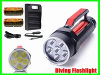 2015 New 100m Underwater Lanterna Mergulho 9000Lm 6x CREE XM-L2 LED T6 Torch Light Waterproof envio + 32650 Battery Charger + Grátis
