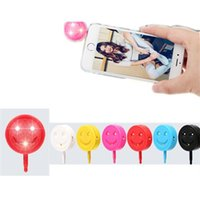 Doces bonito de cores Universal 3,5 mm Mini LED Flash Fill-In Light for Mobile Cell Phone