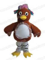 Wholesale Chicken Mascot Costumes - AM9209 chicken mascot costume Fur mascot suit animal mascot outfit adult fancy dress
