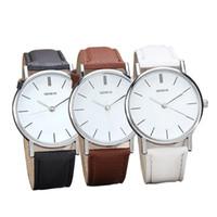 Wholesale Retro Design Watch - Hot Sale Watches men Watches men luxury brand Retro Design Geneva Watch Unisex Quartz Watch relogio masculino
