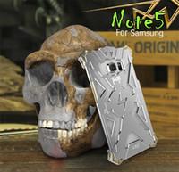 Wholesale Galaxy Phone Design - Samsung Galaxy NOTE 5 edgenote5 Original Design Armor Heavy Dust Metal Aluminum THOR IRONMAN protect phone cover shell case