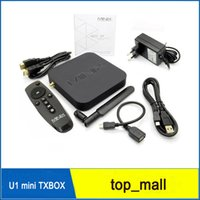 Wholesale Iptv Xbmc - Hot MINIX NEO U1 Android TV Box Amlogic S905 Quad Core 2G 16G 802.11ac 2.4 5GHz WiFi H.265 HEVC 4K Ultra HD XBMC IPTV Smart TV Box 010097