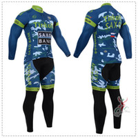 Wholesale Saxo Cycling Jersey - Wholesale-Bicycle Clothing 2015 Tinkoff Saxo Bank Camouflage Cycling Jersey Long Sleeve Long Jersey Cycle Jersey Tight Sport Ropa Ciclismo
