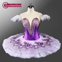 vêtements de danse de ballet adultes achat en gros de-Nouvelle Arrivée Adulte Violet Professionnel Tutu Classique Ballet Tutu Grils Stade Ballerine Costume Dancewear SD0049