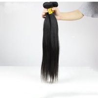 Wholesale Russian Virgin Hair 5a - Russian Virgin Hair Straight 3pcs Lot Unprocessed 5A Russian Human Hair Weave Bundles Natural Black Silky Straight Russian Remy Hair Wefts