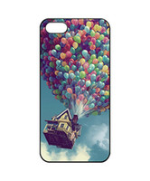 Wholesale Iphone 4s Housing Case - Wholesale Colorful Balloon In The Sky House Hard Plastic Mobile Phone Case Cover For iPhone 4 4S 5 5S 5C 6 6plus