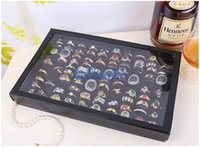Wholesale-Hot 100 Slot-Ohr-Ring Speicher Pin Show Box-Organisator-Halter Schmuck Vitrine BLDL # 55295