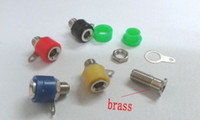 Wholesale Test Cable Plug - 50 pcs brass Banana Socket Jack FOR 4mm BANANA Plug Test Cable connector