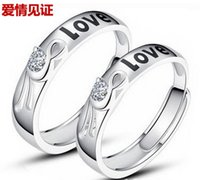 Wholesale Korean Couple Rings 925 - South Korean men and women adorn article 925 sterling silver plated platinum ring breadwinners buddhist monastic discipline Opening couple r