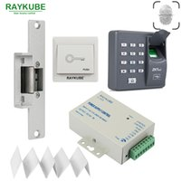 RAYKUBE Biometric Fingerprin RFID Access Control Kit Электрический замок Lock Lock Lock + Выход Кнопка ID Card Power Supply
