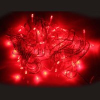 Atacado-10M 32 pés 110V 100 LED Light String Para Xmas Party Wedding Red US
