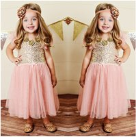 European American New Dress Sequins Patch Lace Dressy Bogen 2015 Sommer Baby Mädchen Prinzessin Kleider Kinder Kleidung B0862