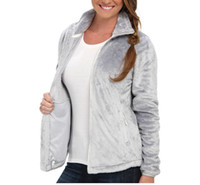 Wholesale Slim Jacket For Female - New Winter Female Fleece Osito Jackets, Pink Ribbon Warm For Women's Jackets Fashion Windproof Outdoor Casual SoftShell Down Sportswear Pink