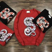 Wholesale Trend Color For Men Casual - 2017 New Luxury Brand men casual Hoodies sweatshirt Snake Print trend O-Neck pullover Sweatshirts For Christmas