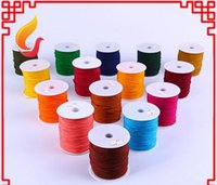 0.8mm 90M / roll Nylon Cord Fil noeud chinois macramé Rattail Corde tressée perles Bracelet Craft Jewelry Making cordes