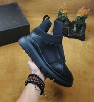 Marca Designer Cool Black Casual Shoe Man Thick Heel Leather Mesh Patchwork Sneaker barato Sapatos confortáveis ​​Outdoors Flat With Box Size 44