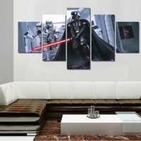 star wars cartoon pictures with best reviews - 2016 New 5 Panels Star Wars Painting The Abstract Modern Home Decor Painting Art HD Print Painting Canvas Wall Picture