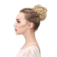 Wholesale Big Bun Ring - Curly Clip In Hair Buns Bride Big Ring Donut Heat Resistant High Temperature Synthetic Chignon Extensions