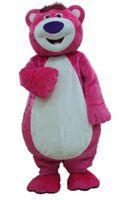 pembe ayı maskot kostüm toptan satış-Pembe Ayı Maskot Kostüm Karikatür Karakter Giyim Fantezi Elbise