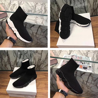 Wholesale Mesh Booties - 2017 new Black Sock Booties Sports Running Shoes,Training Sneakers Shoes,Speed Knit Sock High-Top Training Sneakers,Dropshipping Accepted