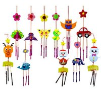 Children Gift Education Kids DIY Craft Kit - Felt Windbell Wind Chime - projetos mistos 30 conjuntos / atacado por atacado