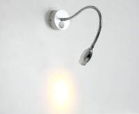 Wholesale Hot Sale Preferred - Hot sale 1W LED wall Lamp gooseneck spot lamp reading Modern 360 turn around Aluminum base AC90V-260V multi colors prefer free shipping